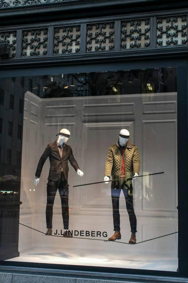 """Saks Fifth Avenue NY presents J.Lindeberg's """"a well-developed sense of humor is the pole that adds balance to your steps as you walk the tightrope of life"""", pinned by Ton van der Veer"""
