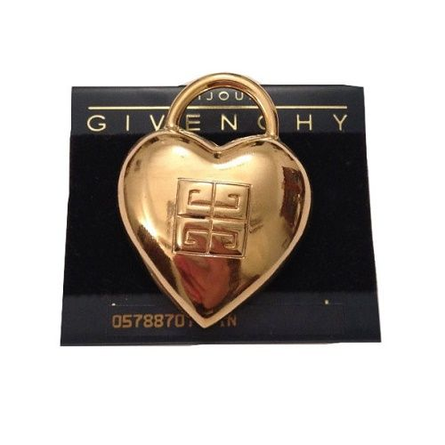 Image of Givenchy Paris Heart Logo Brooch Pin- Vintage New On Card