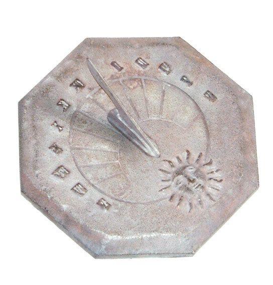 Cast Iron Mediterranean Theme Sundial