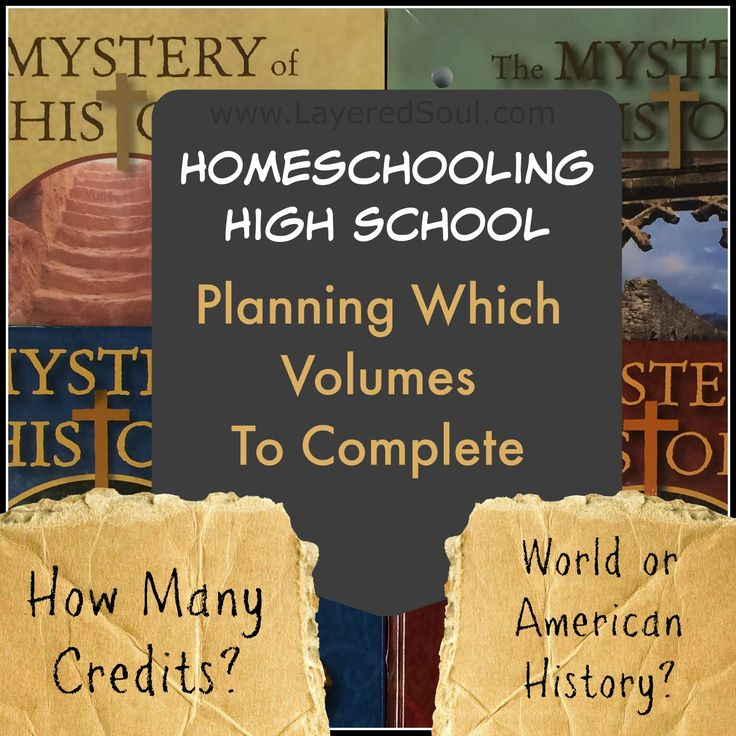 Mystery of History high school rotational schedules