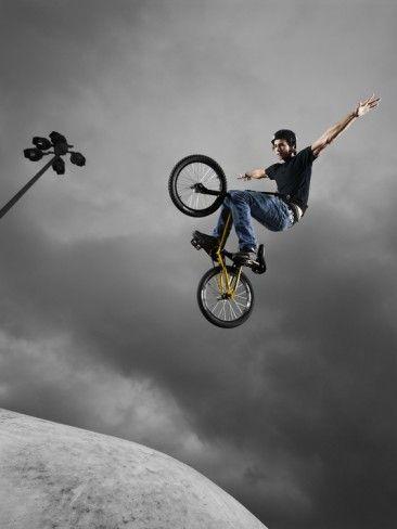 bmx tricks | BMX Biker Performing Tricks Photographic Print at AllPosters.com