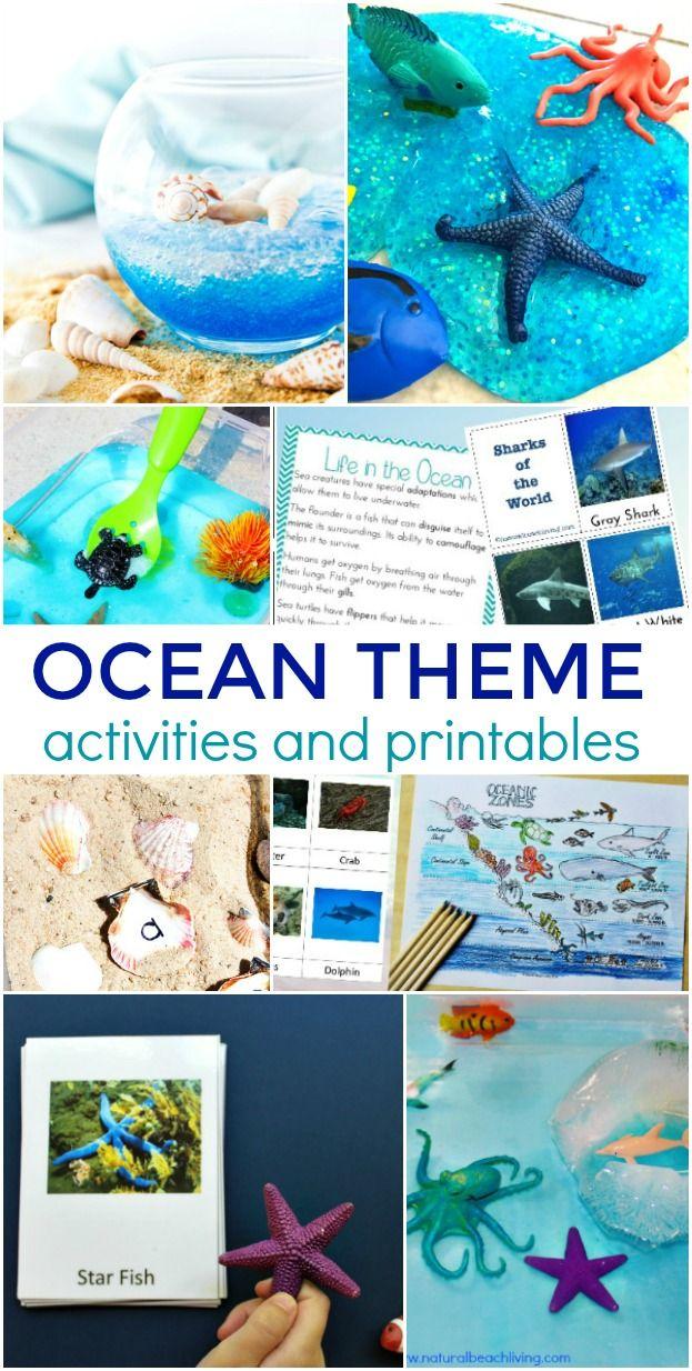 35 Ocean Theme Activities For Preschool And Kindergarten Ocean