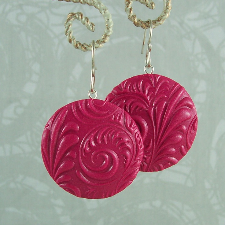 2 Good Claymates: Tutorial - How to Make Polymer Clay Disk Earrings