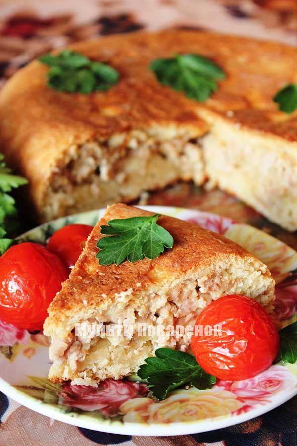Рецепт отличного пирога с мясом в мультиварке
