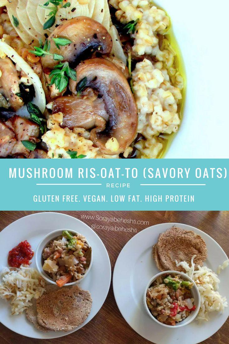savory oats mushroom breakfast vegan