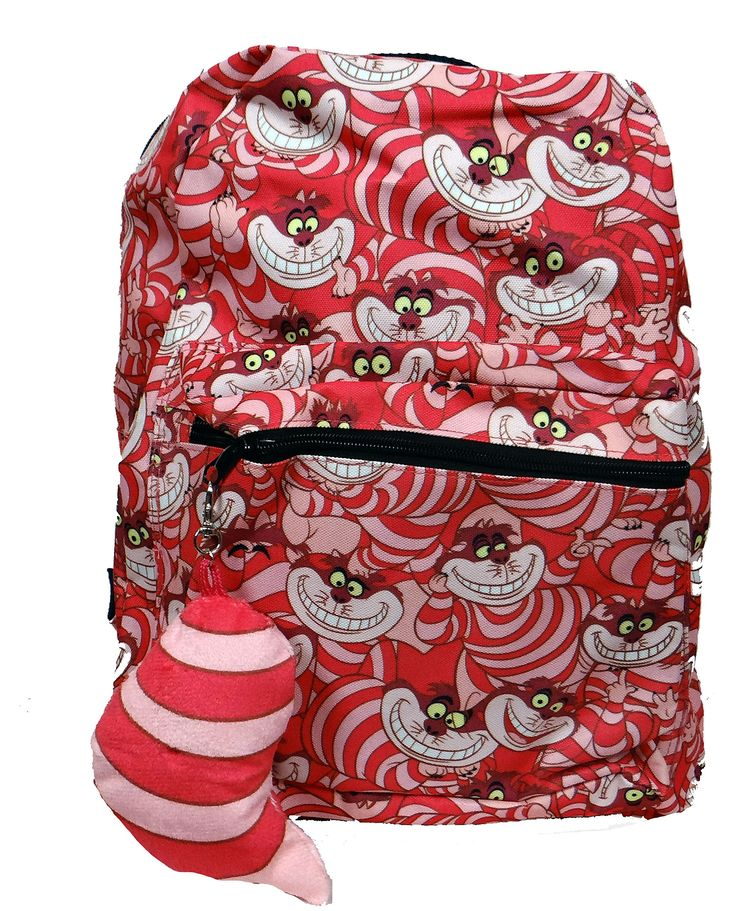 f41d418454 Amazon.com  Disney Alice In Wonderland Chesire Cat Suit Up Backpack   Clothing
