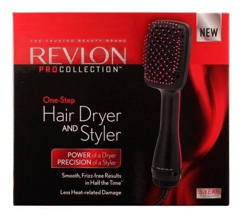 NEW! Revlon PRO COLLECTION One Step HAIR DRYER & STYLER Paddle & Hot Air Brush #Revlon