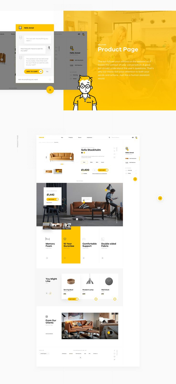 IKEA's online experience can't compare to the imaginative journey that a trip through one of their offline stores always turns into. Why? Because it lacks that spark of magic and human touch. We totally overhauled IKEA's online store experience and we thi…