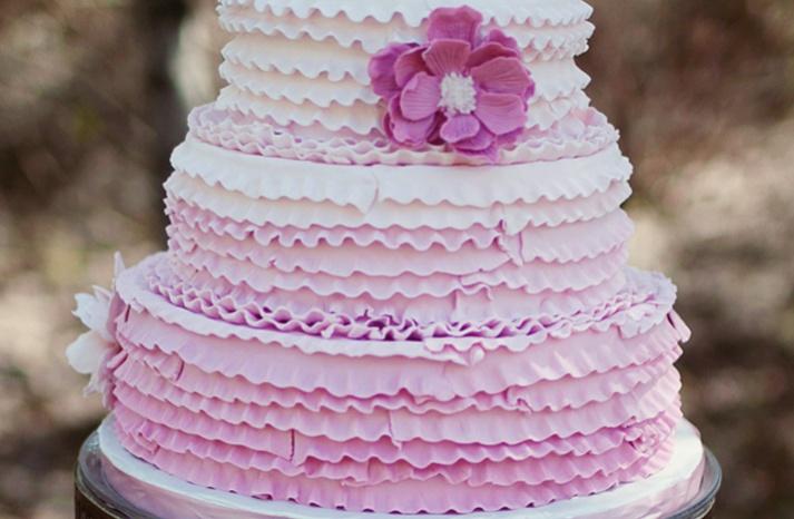 light purple ruffle wedding cake: Purple Ruffle, Wedding Ideas, Cake Ideas, Ruffle Cake, Wedding Cakes, Weddingcake, Party Ideas