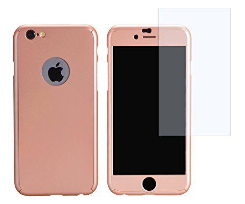 PhoneStar Premium Apple iPhone Schutzhülle. Komplettschutz Slim Case inklusive Glas Screen Protector in rosé.