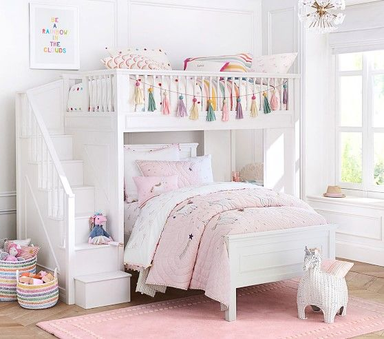 Rainbow Unicorn Reversible Quilt In 2020 Bunk Beds For