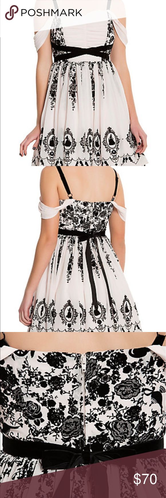 HOTTOPIC Disney cold shoulder prom dress NWT A brand new dress I impulsively bought that I don't need. Perfect for formal occasions such as prom or a wedding. Gorgeous dress, I haven't even removed it from the bag. All items come from a smoke free home with pets, meaning there may be a bit of dog hair. Can be washed if requested, but all clothes are clean. Trades will be considered but I'm very picky. All items will be shipped on mondays, wednesdays, and fridays. Nothing will be shipped on…