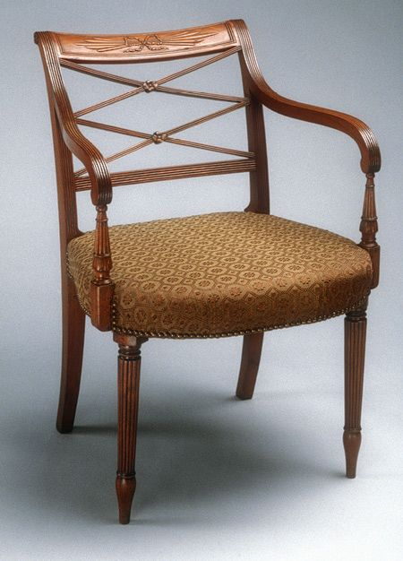 Armchair, 1805–12 Charles-Honoré Lannuier (French, 1779–1819) · Antique  ChairsVintage ... - 22 Best Sheraton Furniture Style Images On Pinterest Antique