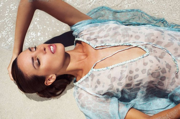Atamarie Long Kaftan in Aqua leopard, ibiza summer sun. Full collection at  www.aquamarine-ibiza.com