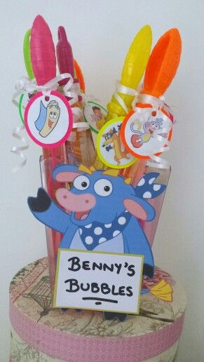 Bennys bubbles. Dora the Explorer theme party