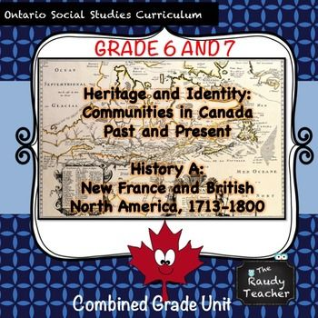 This is a grade 6/7 resource that hits Ontario Social Studies and History Curriculum