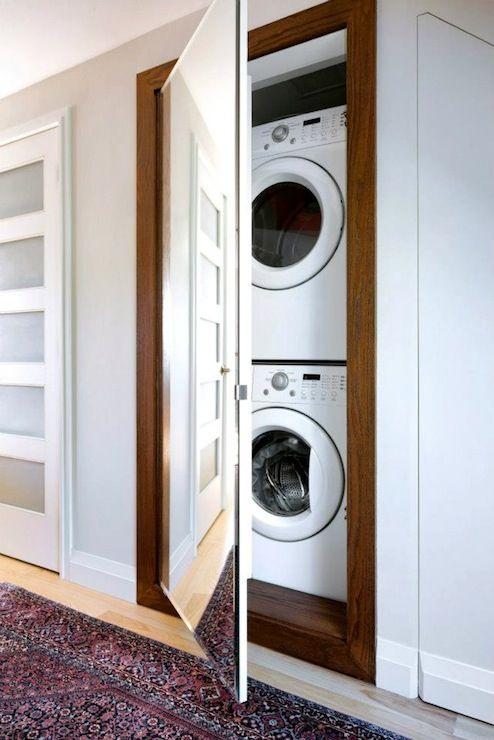 Hidden Laundry Room - Transitional - laundry room - Qanuk Interiors