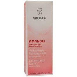Amandel verzachtende reinigingsmelk - Weleda  Een zorgvuldige reiniging vormt de basis voor een effectieve gezichtsverzorging. De romige emulsie met amandel- en pruimenpitolie zorgt voor uiterst milde reiniging, beschermt de vochtbalans en is tevens geschikt voor het verwijderen van make-up. De huid is schoon en voelt fris aan.