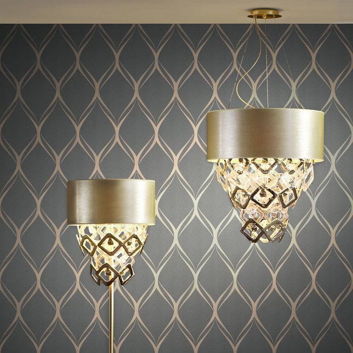 "Brewster Home Fashions Platinum Gustav 33' x 20.5"" Geometric Wallpaper & Reviews 
