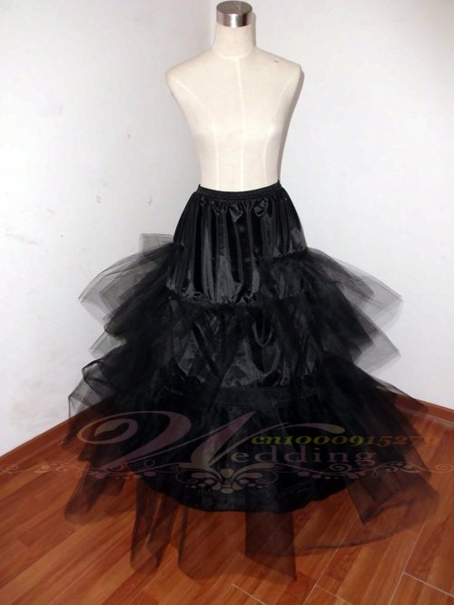 2 Hoop Black Bone Bridal Wedding Gown Dress Costume Petticoat Crinoline Skirt Slip On AliExpress 10 Off 3599