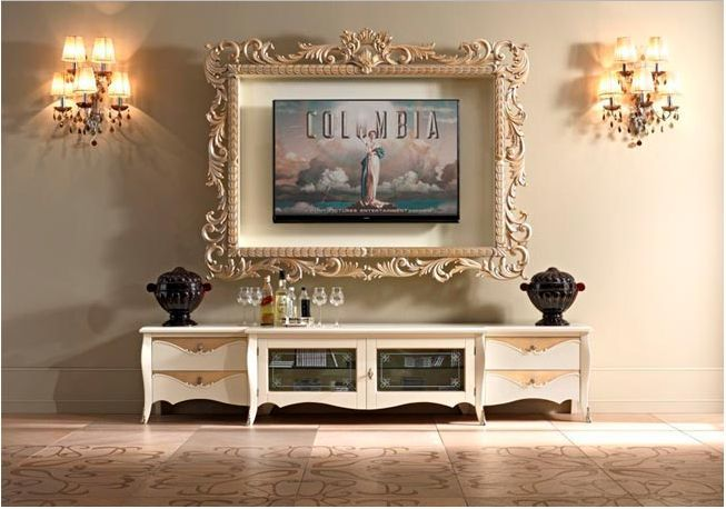 Tips on how to decorate around TV. Frame around tv.
