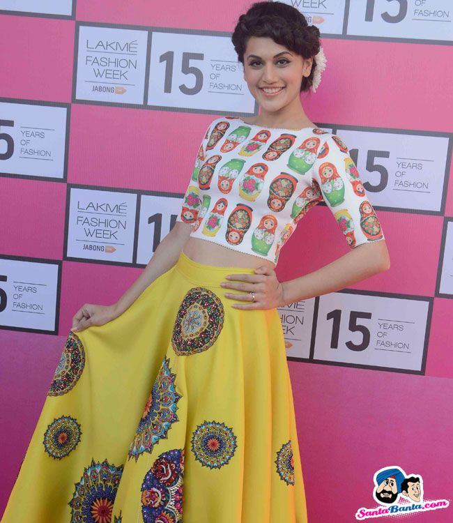 Lakme Fashion Week 2015 Press Conference -- Taapsee Pannu Picture # 299082