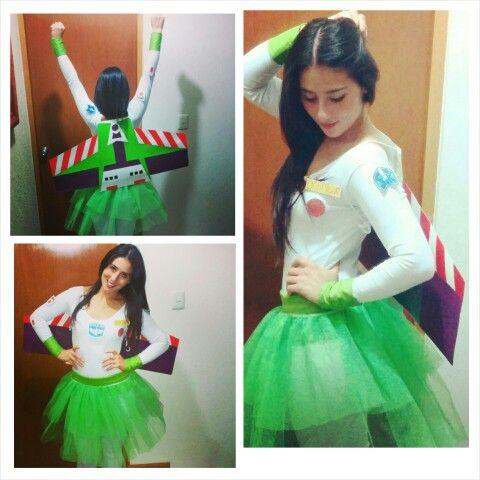 "Disfraz de mujer ""Buzz Light Year"" casero"