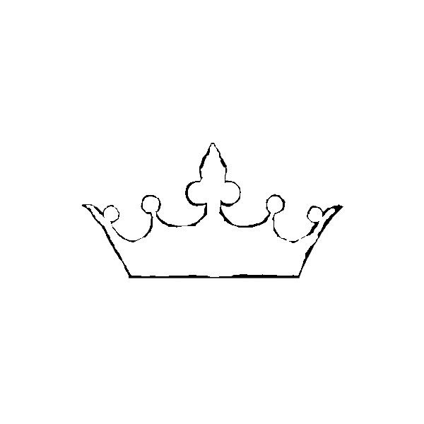 Simple king crown outline - photo#12