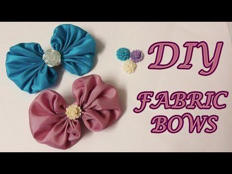 DIY kanzashi hair bow,how to make hair bow,kanzashi tutorial - YouTube