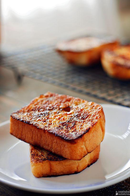 Pão Branco no estilo Japonês... e Rabanadas Brûlée