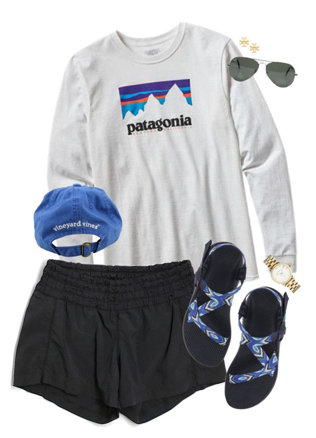 summer days, please come soon  by callingmybluff ❤ liked on Polyvore featuring Patagonia, lululemon, Chaco, Vineyard Vines, Marc by Marc Jacobs, Tory Burch and Ray-Ban