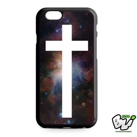 Galaxy Nebula White Cross iPhone 6 | iPhone 6S Case
