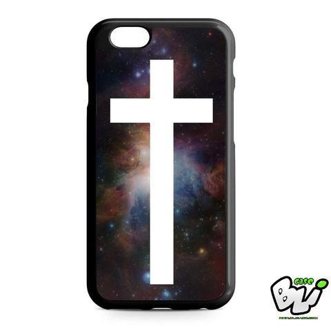 Galaxy Nebula White Cross iPhone 6 | iPhone 6S Case