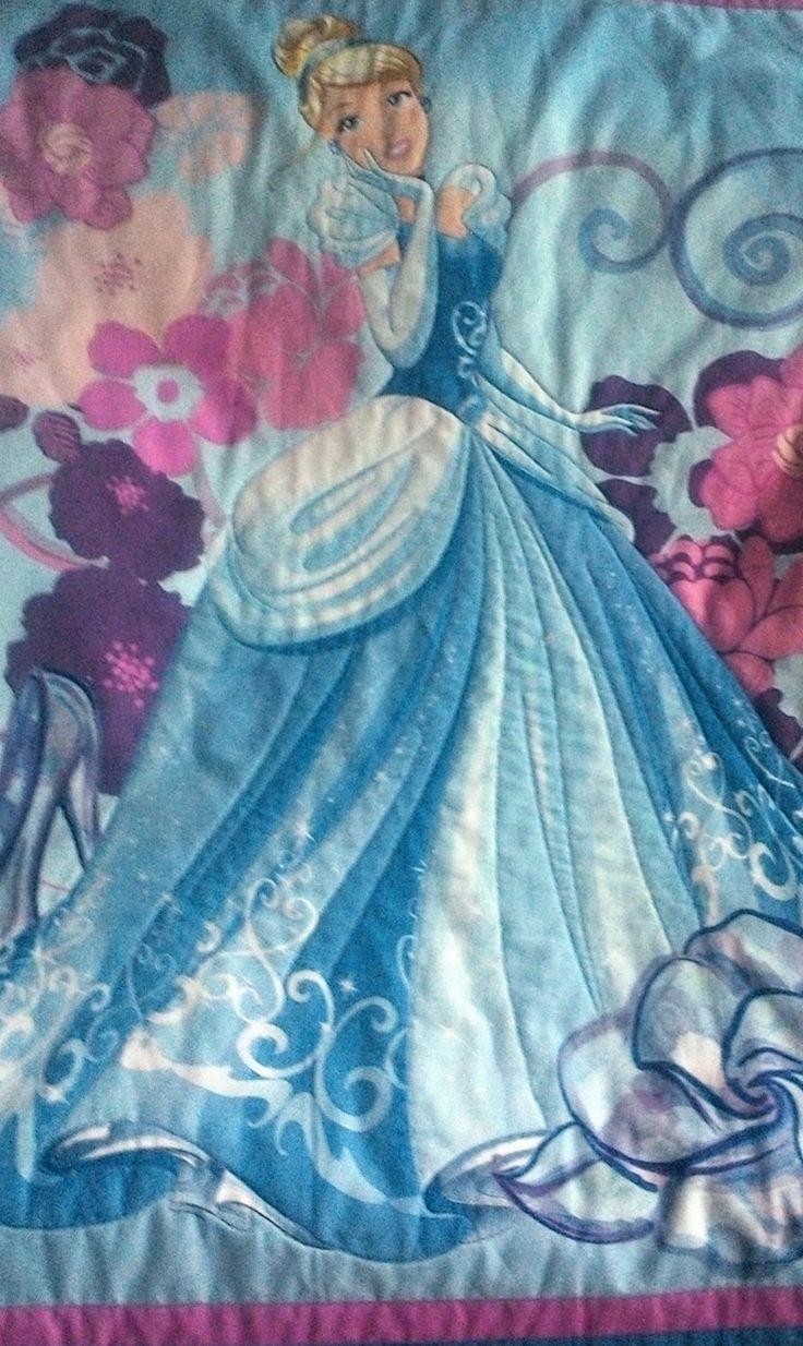 Children's Quilt, BQ015, Cinderella, handmade, 100% cotton. by TheQuiltedCheese on Etsy