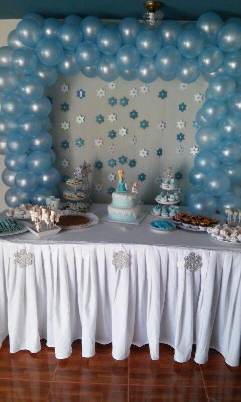 Mesa dulce fiesta princesa Elsa Frozen