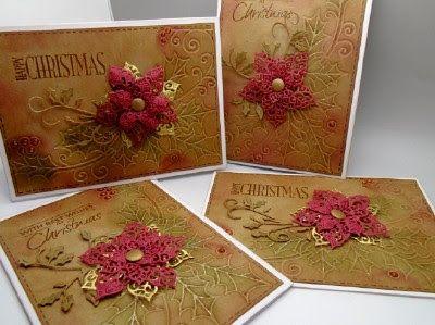 Christmas Holly and Poinsettias