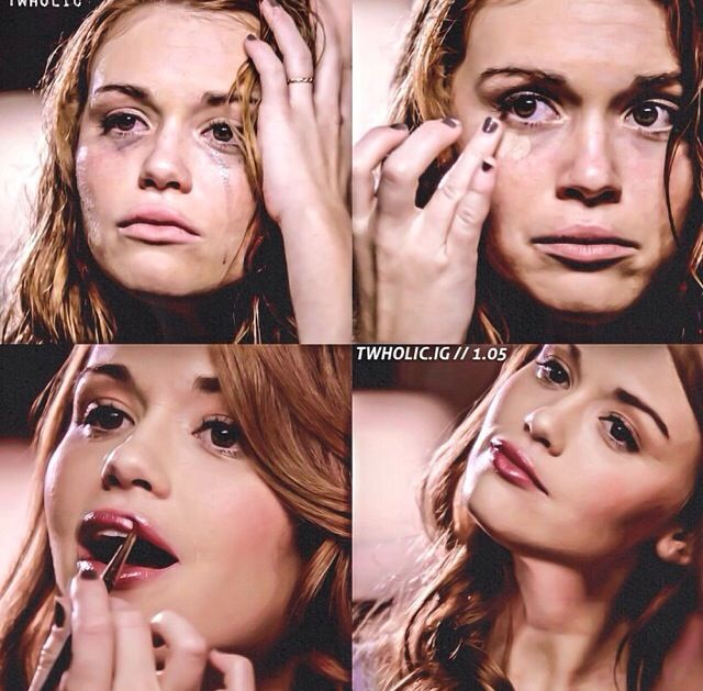 In a way, this scene was almost sad. Seeing Lydia pull herself together just like that. One moment she is sad and crying and the next she's acting like nothing happened and that she's okay.