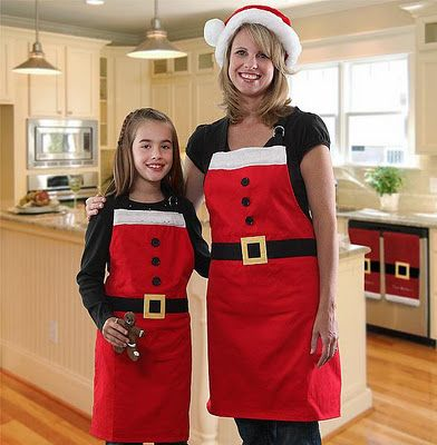 recordar hacer estos delantales para la próxima navidad...