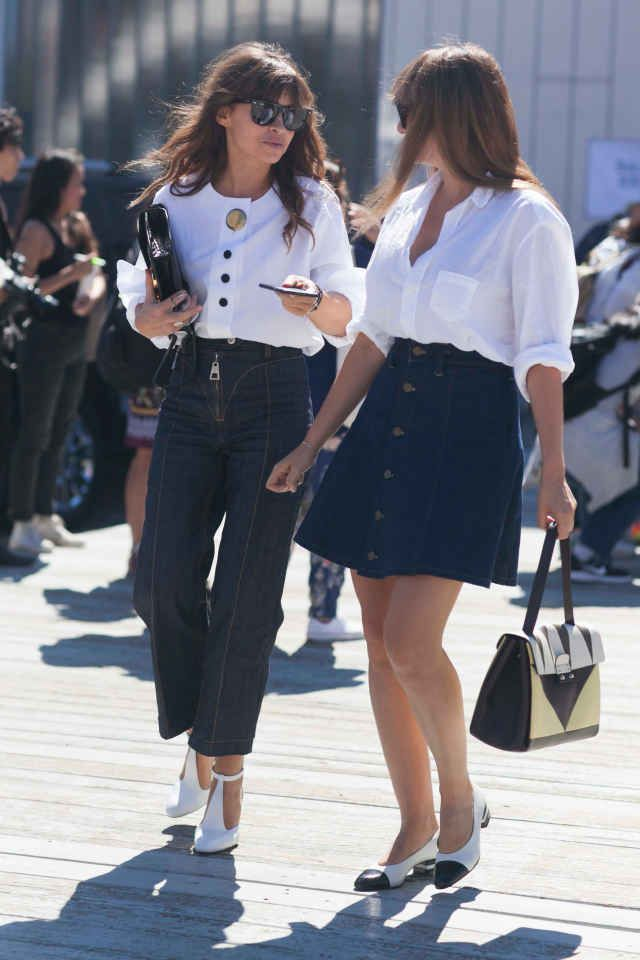 Miroslava Duma and Nasiba Adilova. Photo: Emily Malan/Fashionista