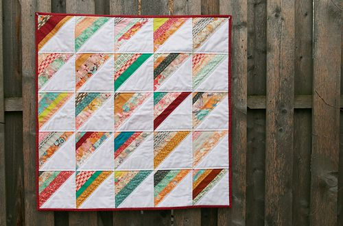 Don't know if I'd have the patience, but love how this looks.: Sewing Quilts, Summerlov Stripes, Lemon Modern, String Quilts, Stripes Quilts, Fresh Lemon, Romans Stripes, Quilts Ideas, Modern Quilts