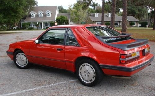 86 Mustang SVO - featured revised rear spoiler, Koni suspension, disc brakes all around, 2.3 turbo-charged four cyl