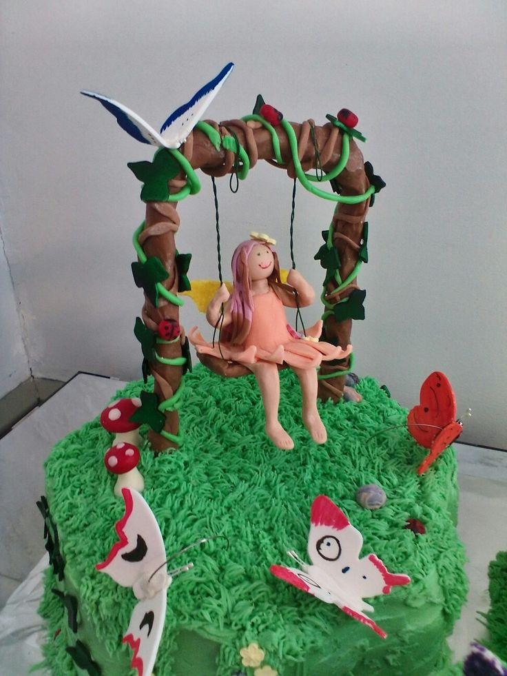 17 Best Ideas About Fairy Garden Cake On Pinterest
