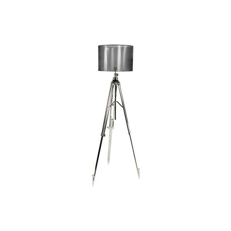 Eichholtz+Malabar+Floor+Lamp+-+Gorgeous+and+lustrous+nickel+finished+tripod+floor+lamp+with+faded+black+lampshade+from+Eichholtz.The+Malabar+Floor+Lamp+features+a+tripod+structure+with+three+pointed+legs+and+structure+cast+in+nickel.It+comes+with+round+drum+lampshade+in+a+faded+black,+transparent+finish+that+offers+a+minimal+contrast+of+colour.The+gorgeous+floor+lamp+will+add+a+contemporary+and+luxurious+feel+to+the+lounge,+dining+room+or+hallway+of+your+home.+