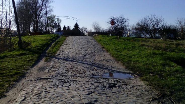 Egykori SzGV nyomvonal. Szeged, Szentmihály.