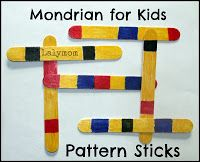 Mondrian for kids Boogie Woogie Broadway art project for class. Click through for 6 more ways to explore this artist!