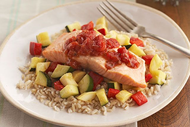 Low cal, low fat, easy to pull off and downright delicious. Get in the swim with delectable, zesty salmon.