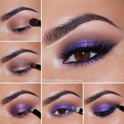 GORGEOUS purple smokey eye perfect for brown eyed girls