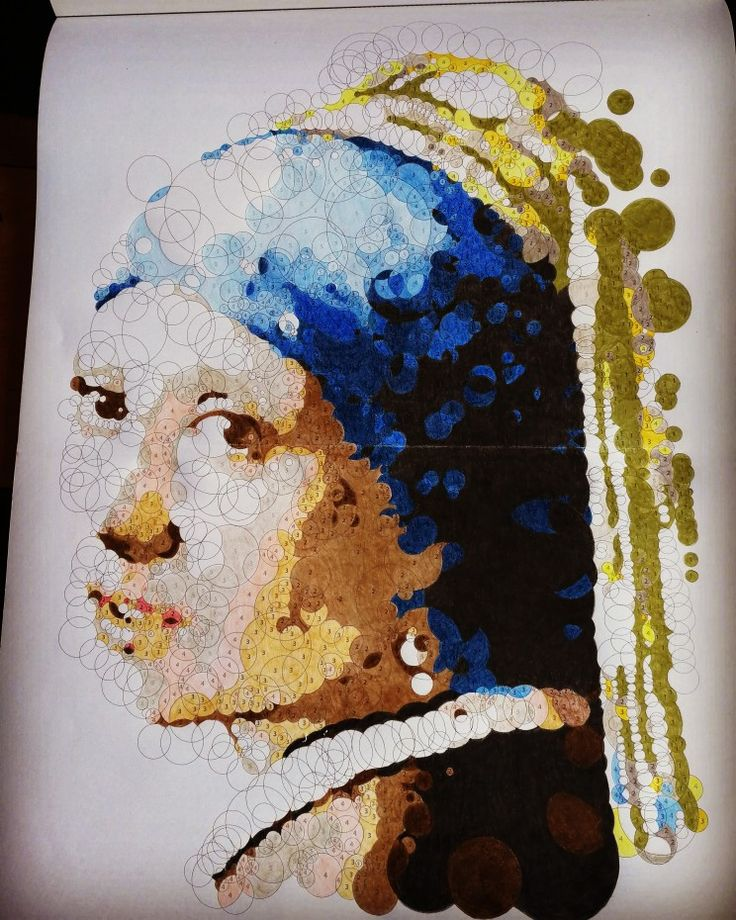 Querkles Masterpieces, Girl with a pearl earring