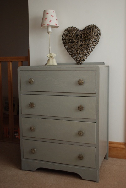 x Sold x Chest of drawers painted with Paris Grey