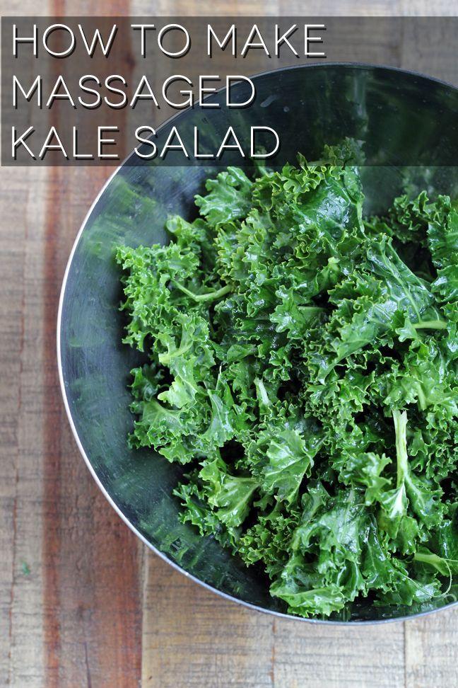 How to make massaged kale salad